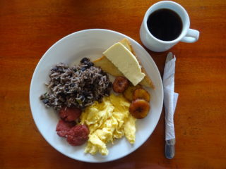Costa Rica Gallo Pinto breakfast