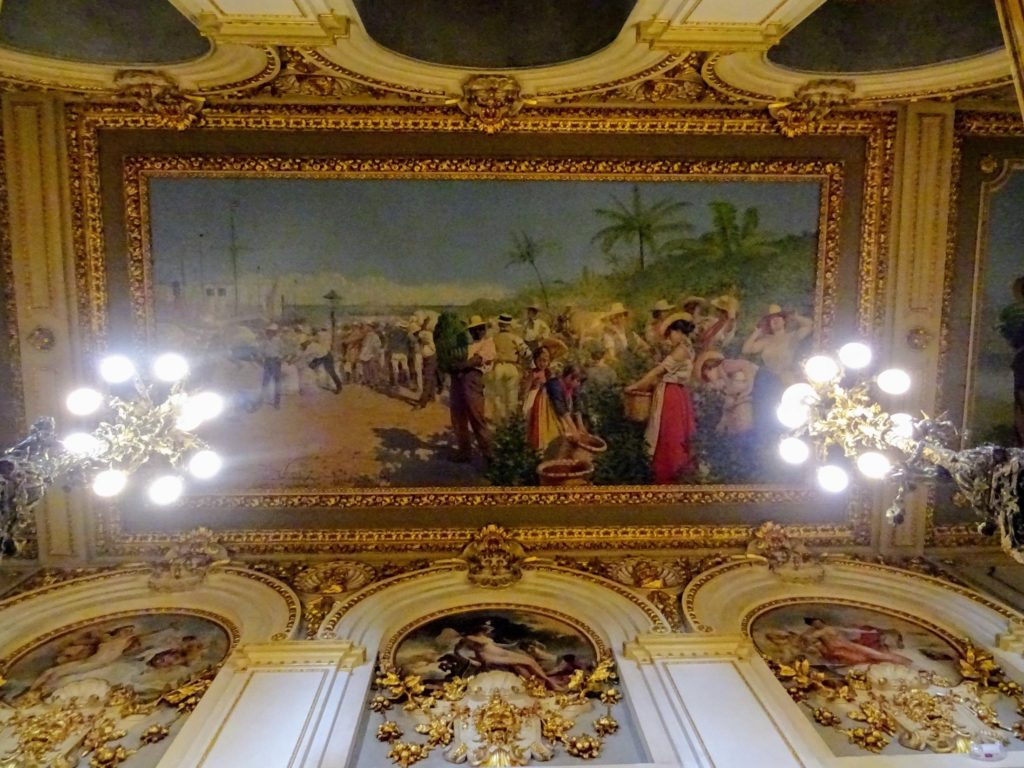 Costa Rica San Jose National theatre fresque ceiling