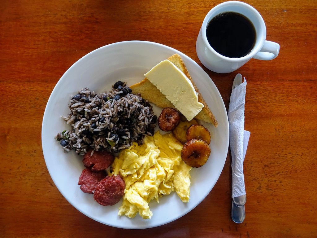 Costa Rica petit déjeuner Gallo Pinto