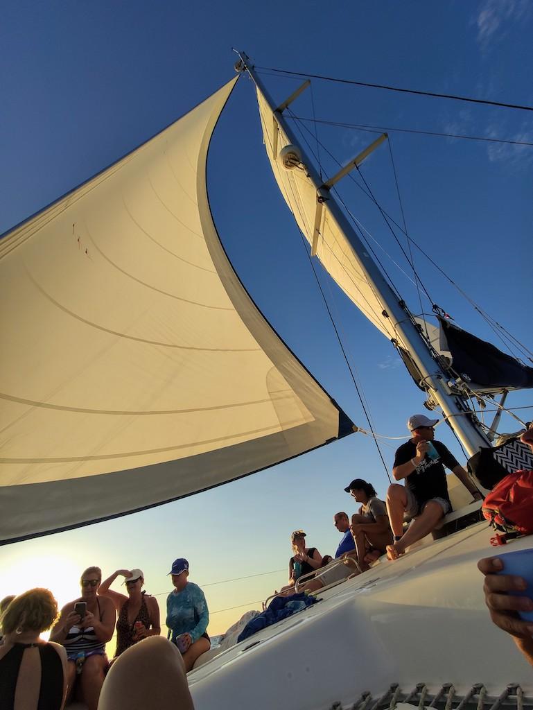 Costa Rica Potrero catamaran sail