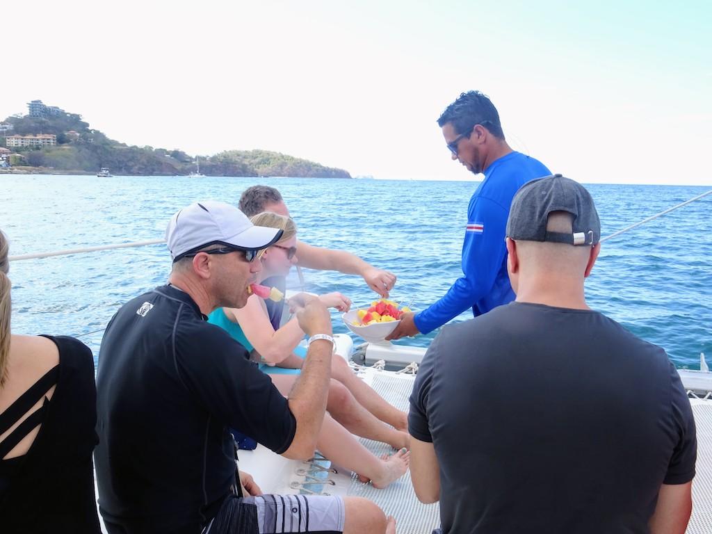 Costa Rica Potrero catamaran sailing snack