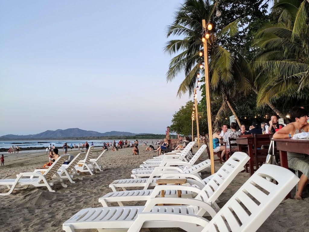 Costa Rica Tamarindo chaise sur la plage