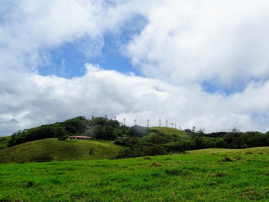 Costa Rica Arenal lake wind turbine 1