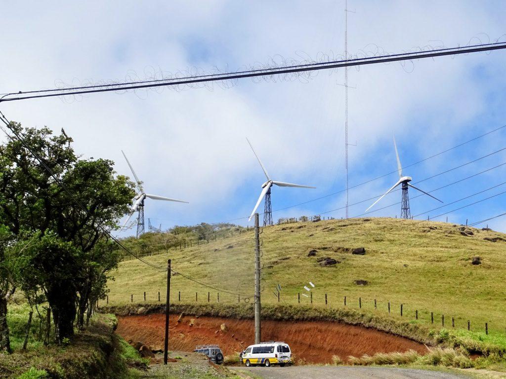 Costa Rica Arenal lake wind turbine 2