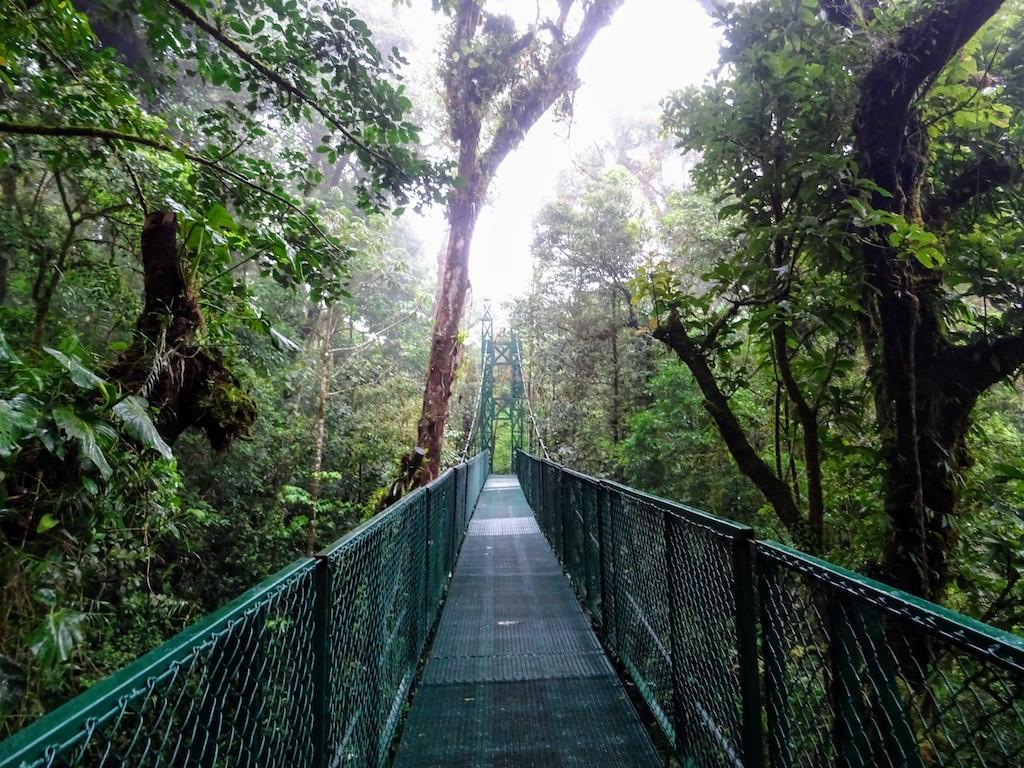 Costa Rica Monteverde Selvatura parc passerelle