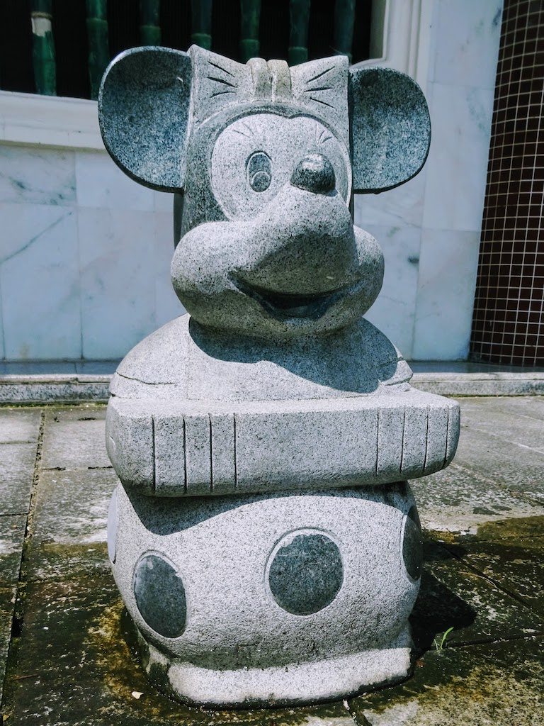 Malaisie Penang Kek Lok Si statue minnie