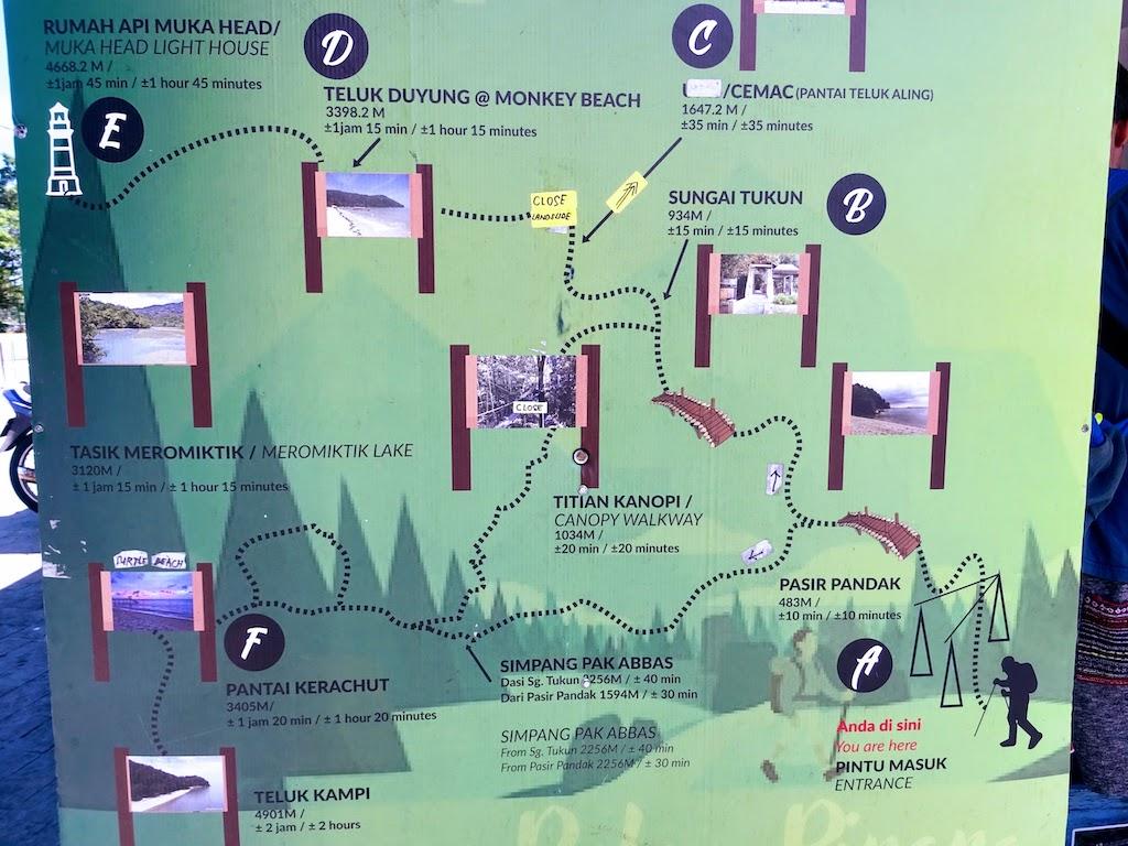 Malaisie Penang Carte parc national
