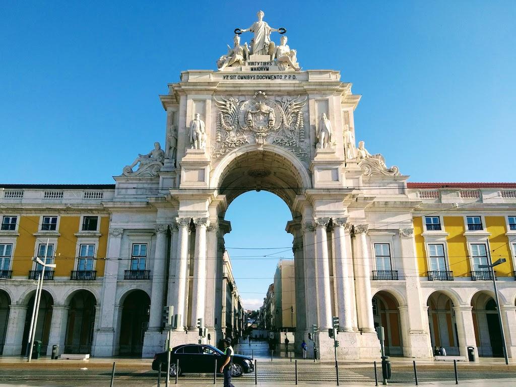 Portugal Lisbonne Commerce place porte