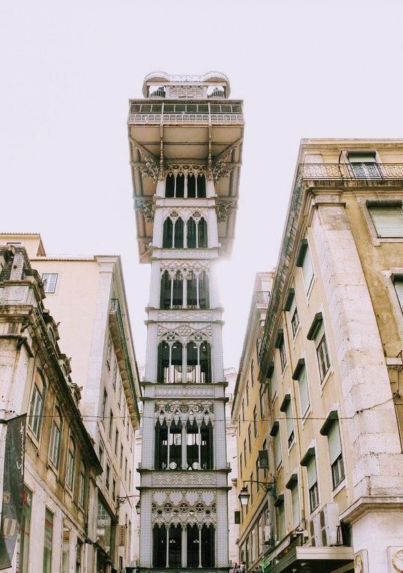 Portugal Lisbonne Santa Justa Ascenseur