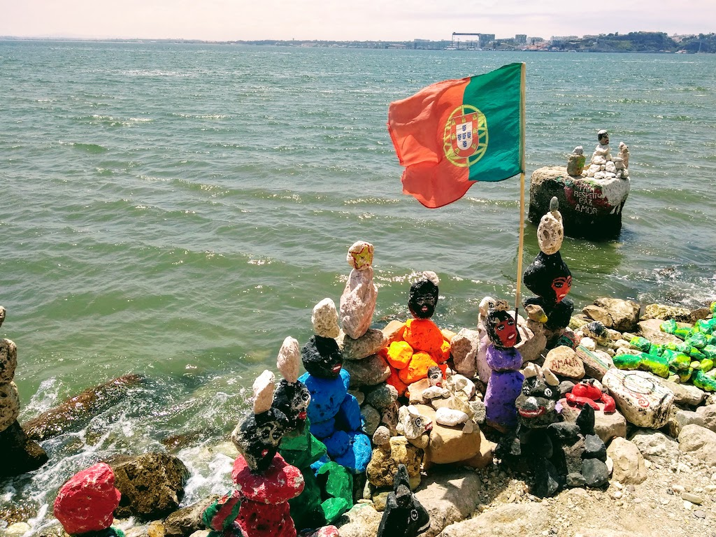 Portugal Lisbonne galet statues