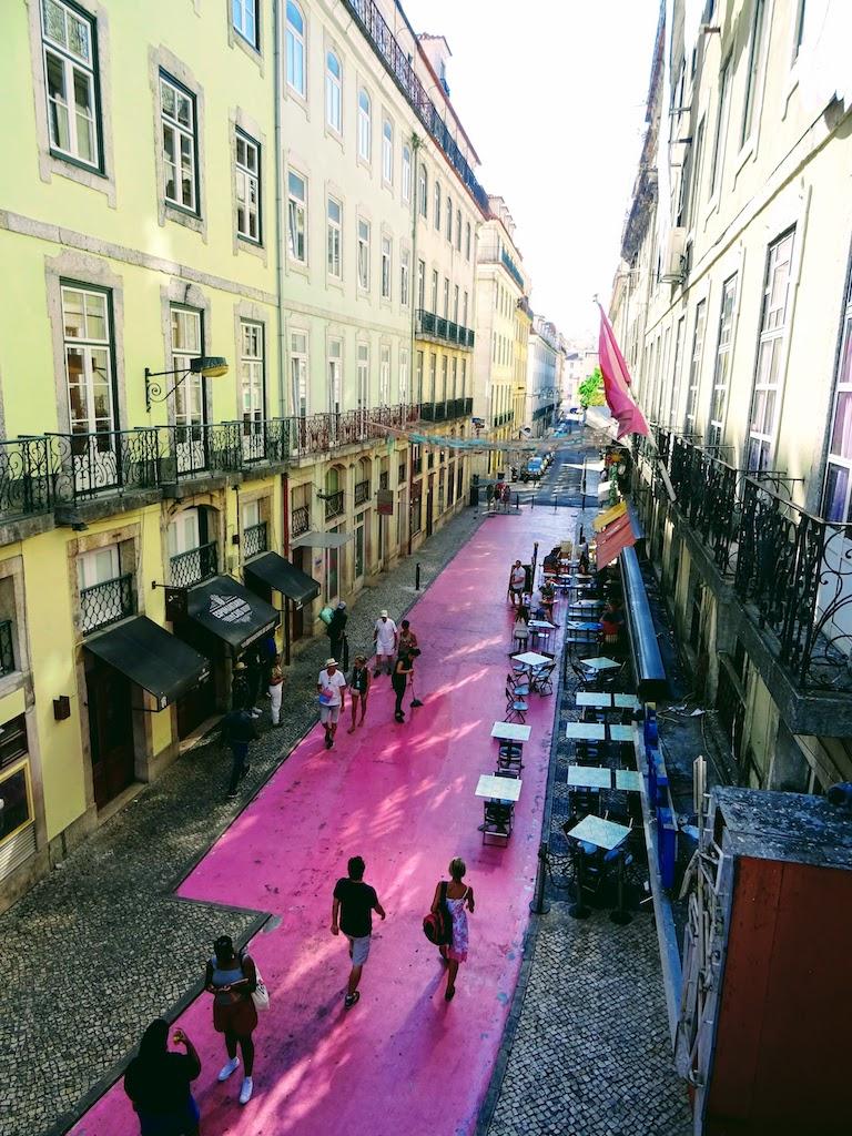 Portugal Lisbonne pink street
