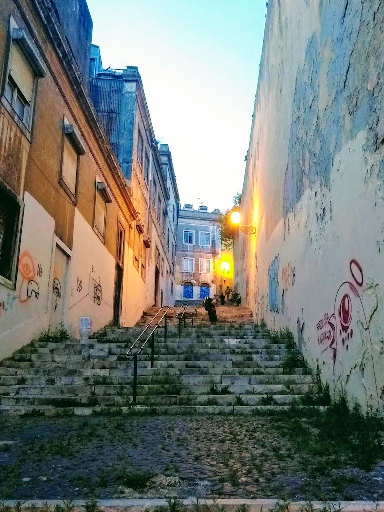 Portugal Lisbonne escalier