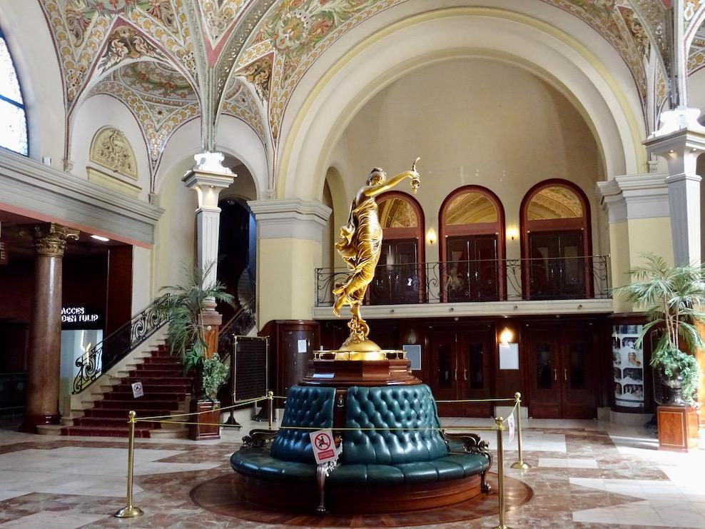 France Aix Les Bains Casino hall statue