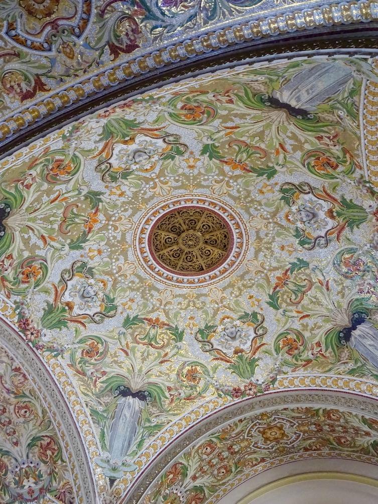 France Aix Les Bains Casino mosaic ceiling