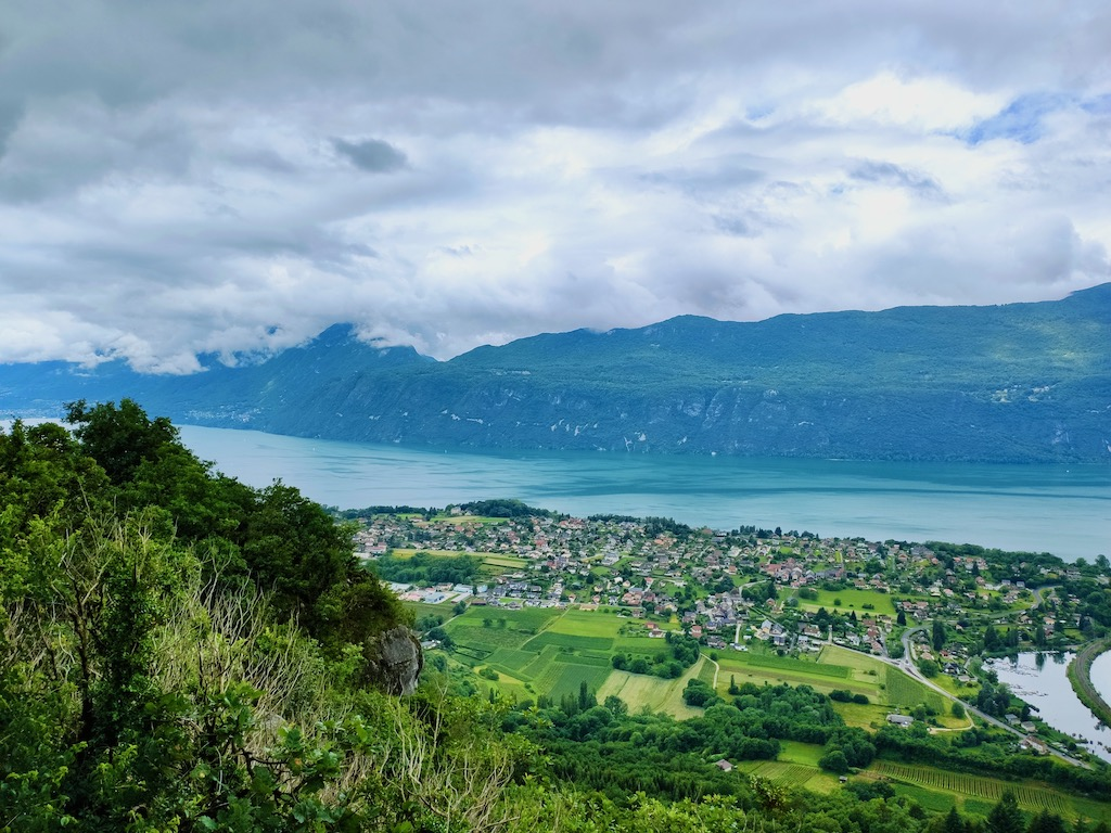 France Aix Les Bains Corsuet view Bourget lake