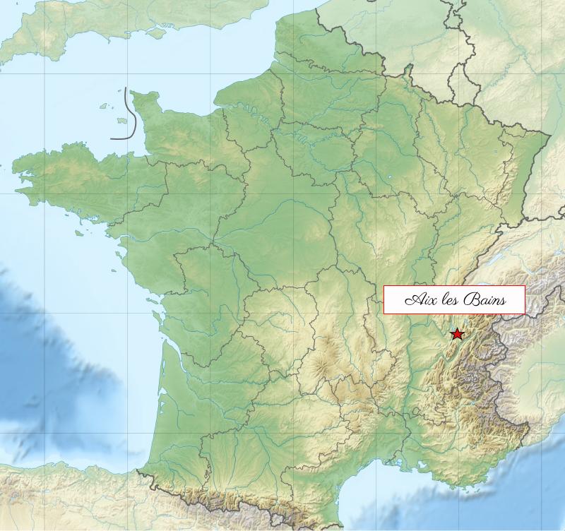 Aix-Les-Bains Map France