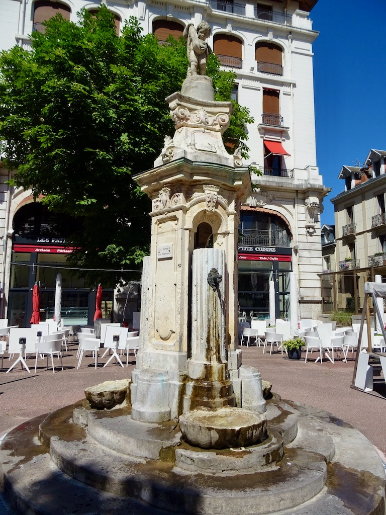 France Aix Les Bains Old thermal bath fountain