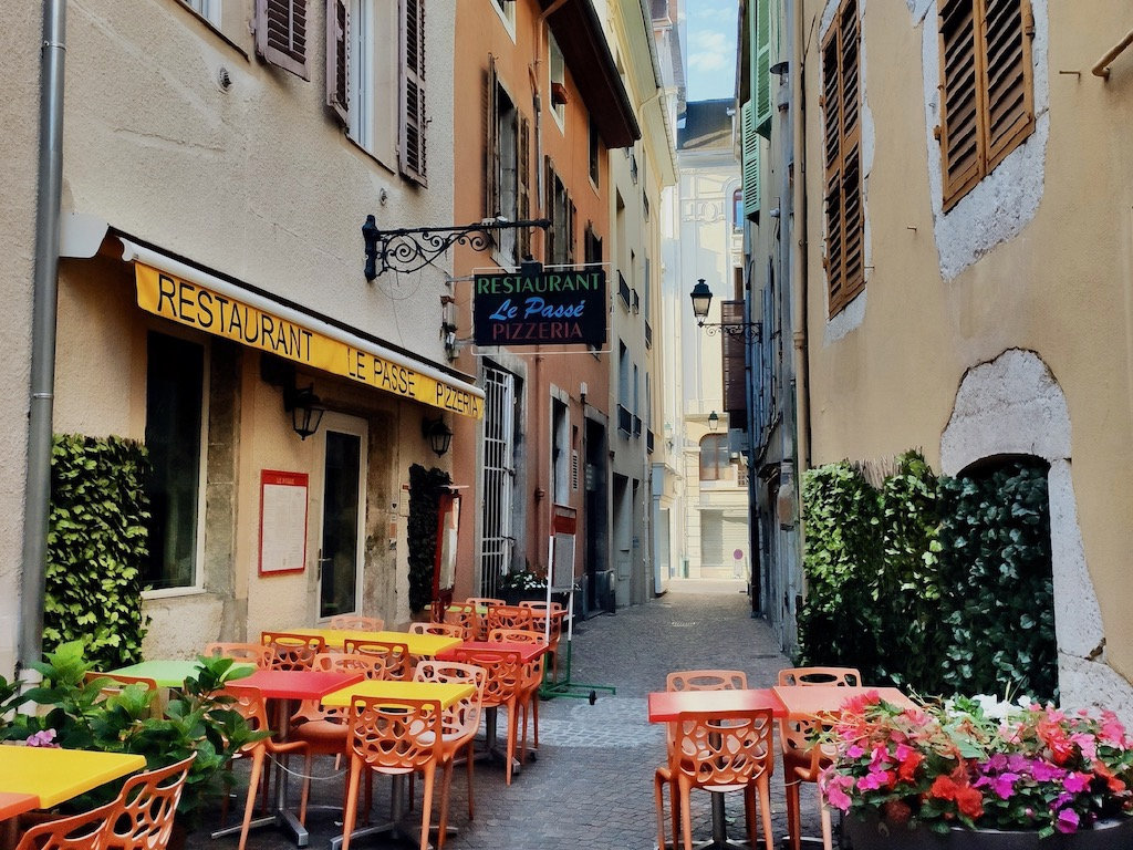 France Aix-Les-Bains centre ville ruelle