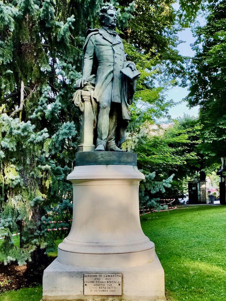 France Aix les Bains Lamartine statue