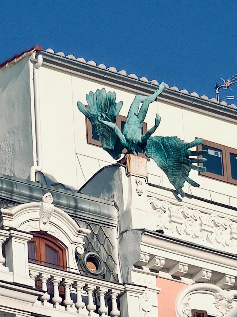 Espagne Madrid statue accident aerien