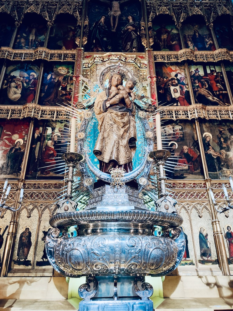 Madrid Almudena cathedral the virgin
