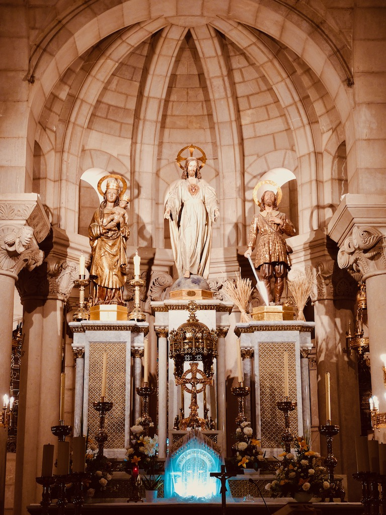 Madrid Almudena cathedral crypt altar