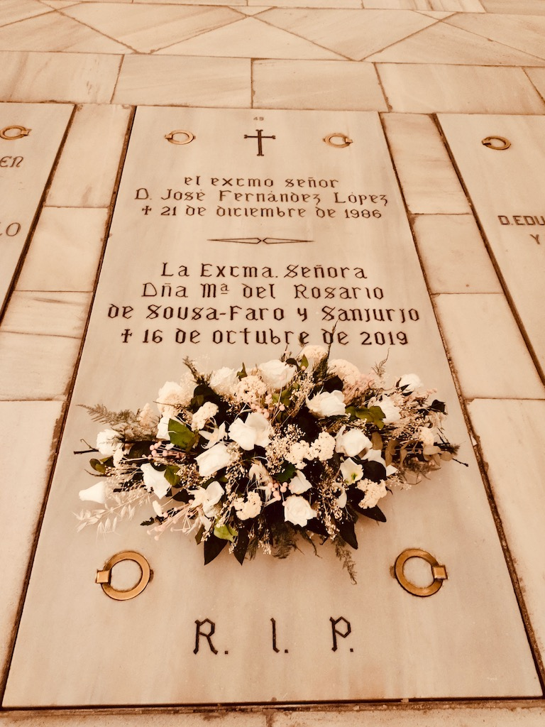 Madrid Almudena cathedral crypt grave