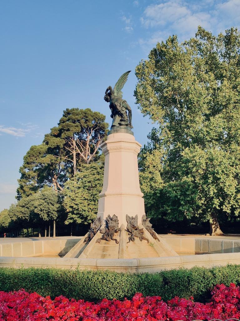 Espagne Madrid Vue Statue Ange dechu